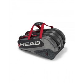 PALETERO HEAD ELITE PADEL SUPERCOMBI NEGRO ROJO