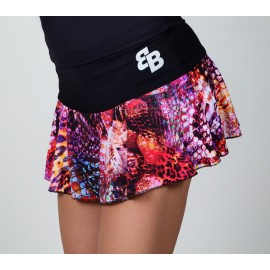 FALDA BASIC ESTAMPADO NEGRO